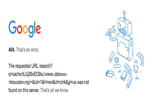 破解Google頁庫存檔404之謎
